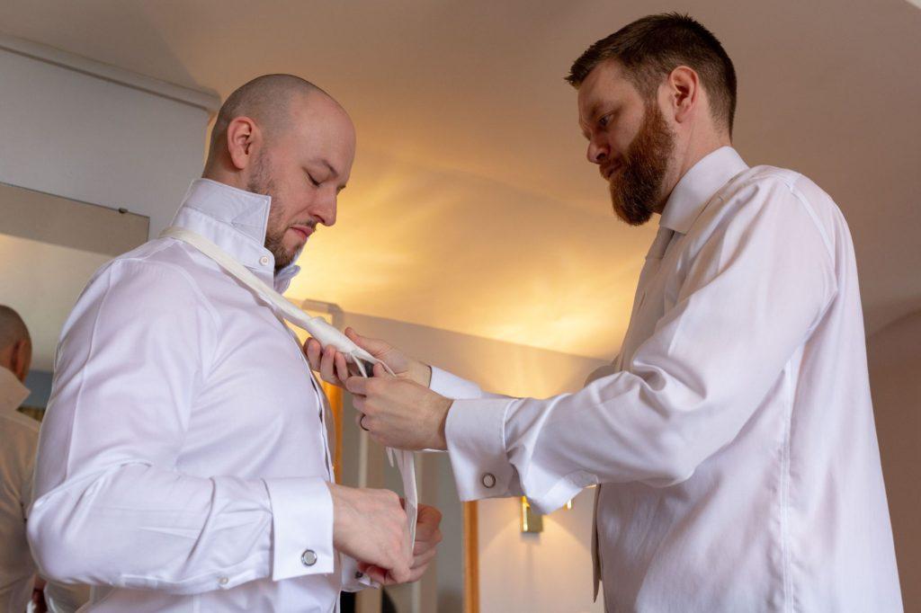 bestman ties grooms tie de vere selsdon estate preparation oxford wedding photography