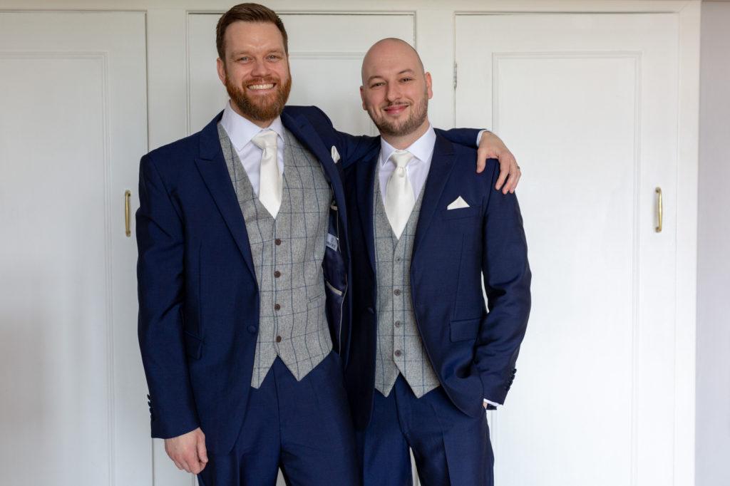 groom bestman portrait de vere selsdon estate croydon oxfordshire wedding photographers