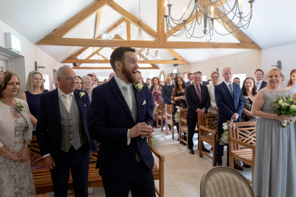bestman with rings marriage ceremony oaks farm surrey oxfordshire wedding photographers