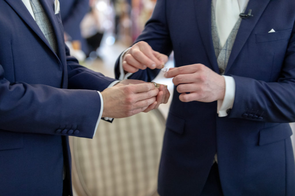 groom bestman with rings marriage ceremony oaks farm surrey oxfordshire wedding photography