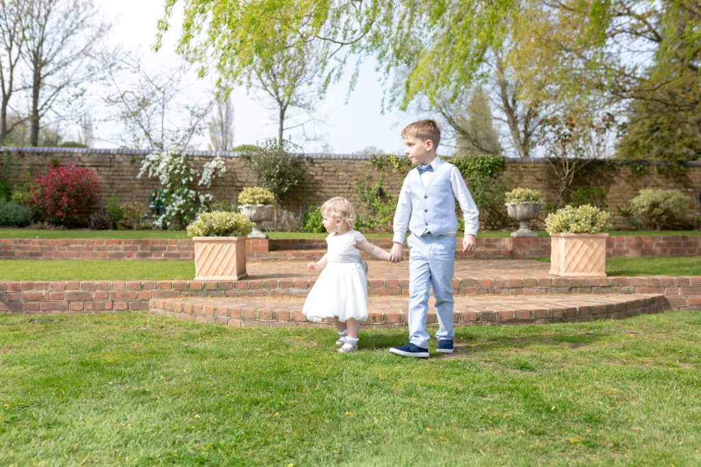 flower girl page boy oaks farm wedding venue surrey oxford wedding photography