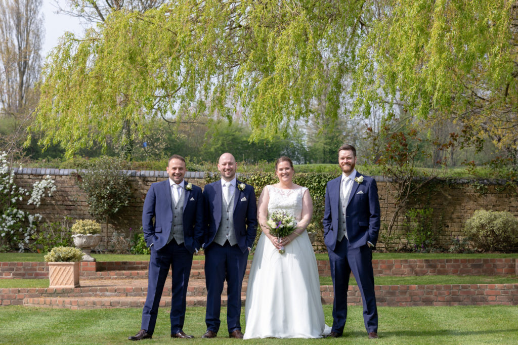 bride groom bestman groomsman traditonal portrait oaks farm surrey oxfordshire wedding photographers