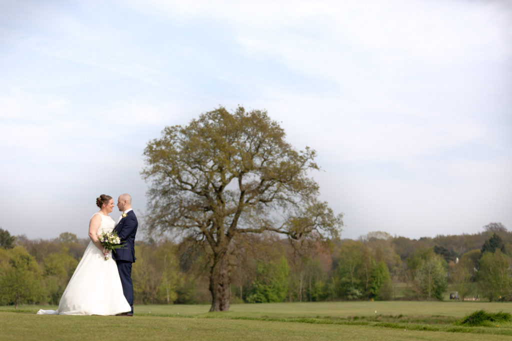 bride groom countryside portriat oaks farm wedding venue surrey oxfordshire wedding photographers