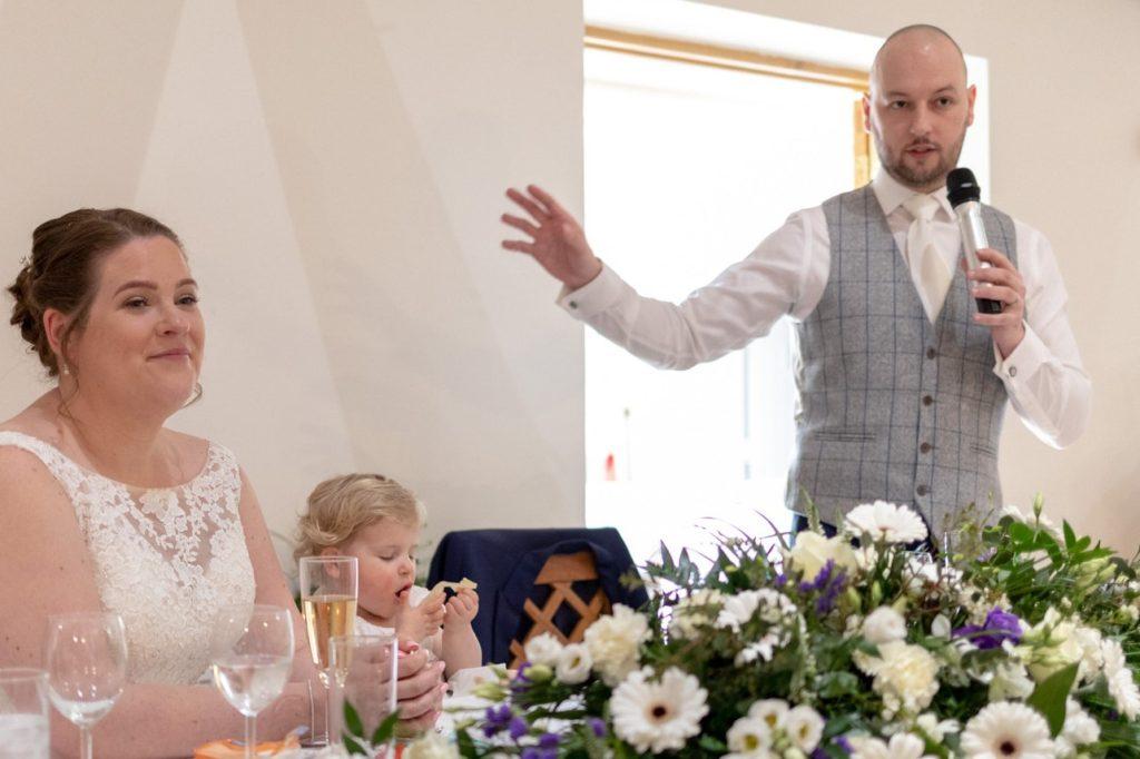 grooms speech oaks farm wedding venue surrey oxford wedding photographer