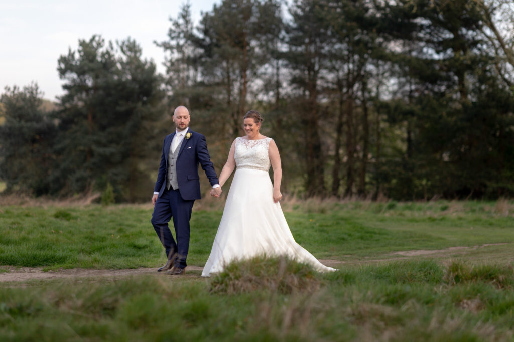 bride groom countryside stroll oaks farm surrey oxford wedding photographer