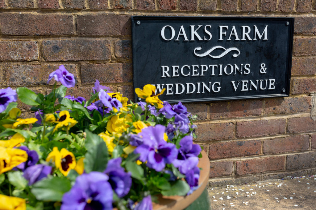 oaks farm wedding venue sign surrey oxfordshire wedding photography