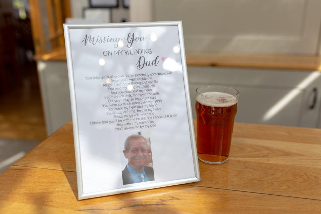 tribute to father of the bride oaks farm wedding venue surrey oxford wedding photographer