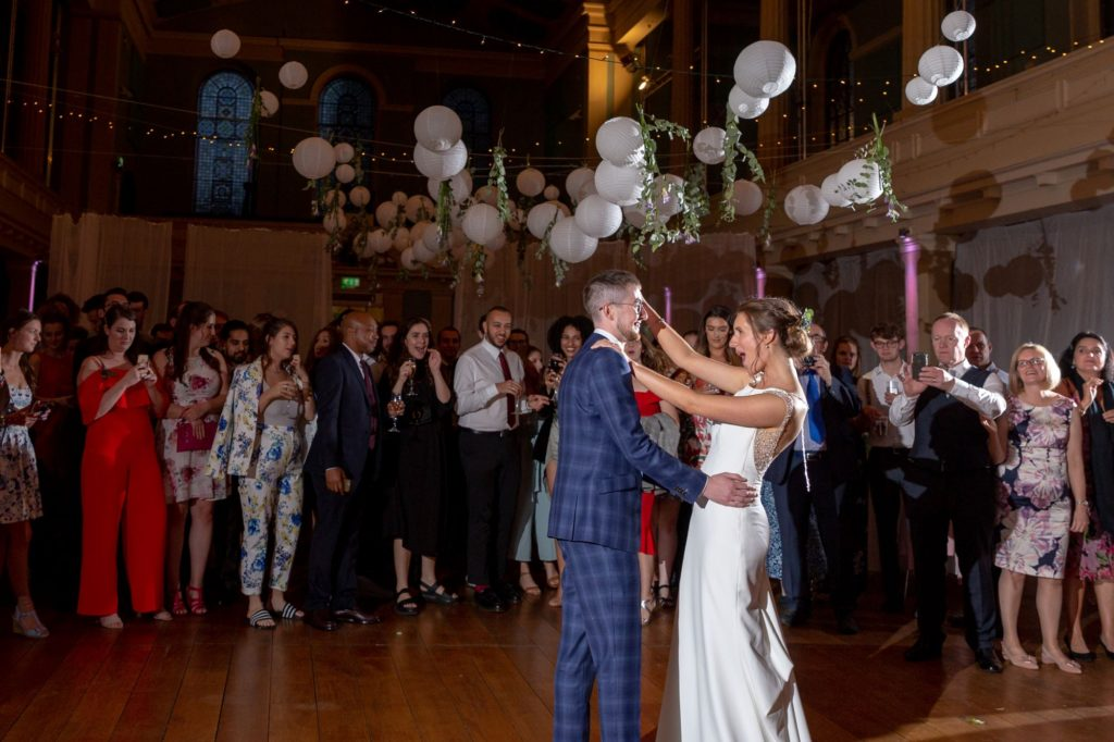 914 bride groom first dance st marys church marylebone london oxford wedding photography