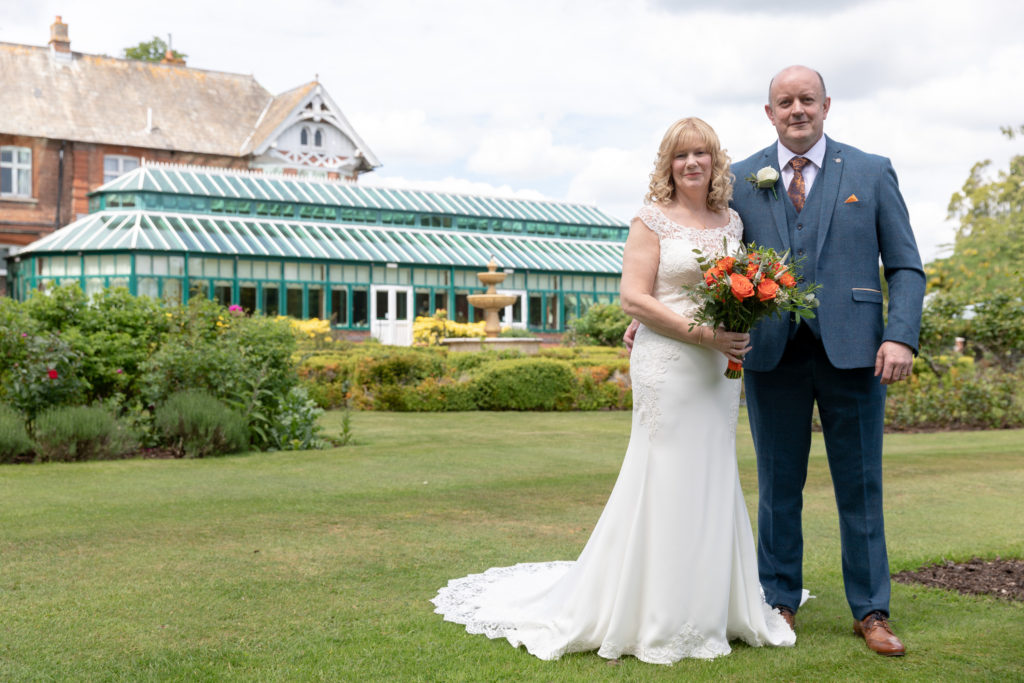 bride father of the bride formal portrait ardencote luxury venue warwickshire oxford wedding photography