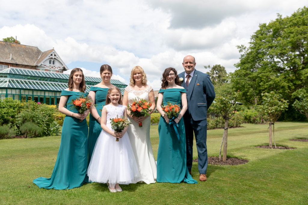 wedding party formal portrait ardencote luxury venue warwick oxfordshire wedding photographers