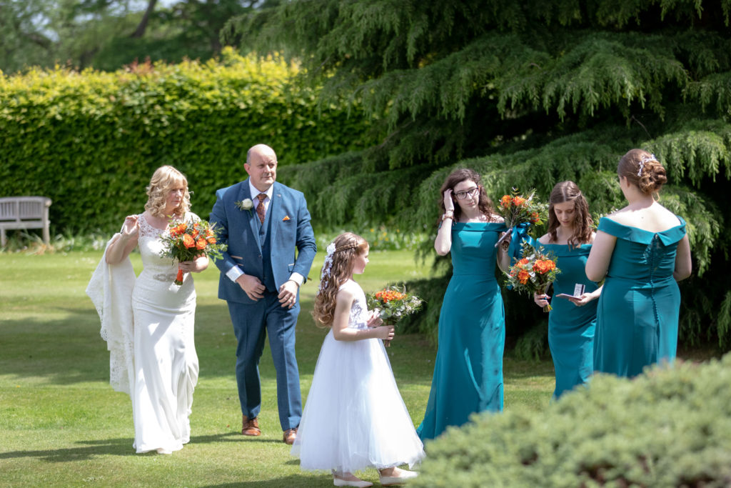 wedding party before ceremony ardencote luxury venue warwickshire oxfordshire wedding photography