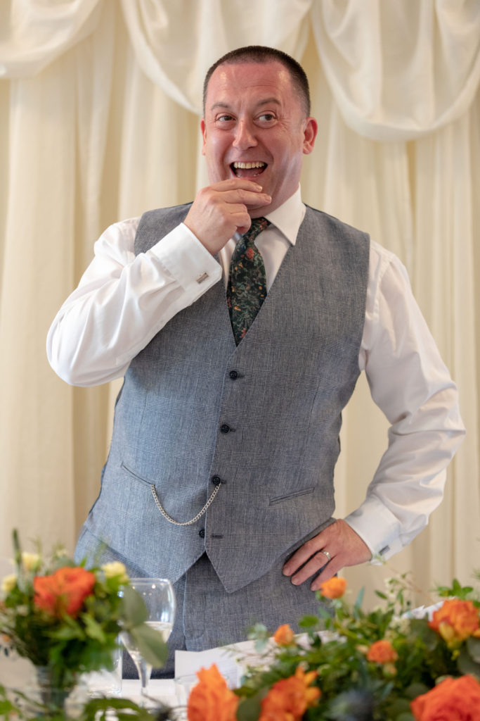 grooms top table speech ardencote luxury venue warwickshire oxfordshire wedding photography