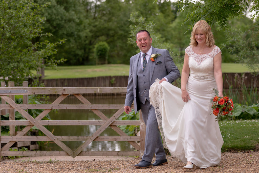 laughing bride groom ardencote hotel gardens claverdon warwickshire oxford wedding photographer
