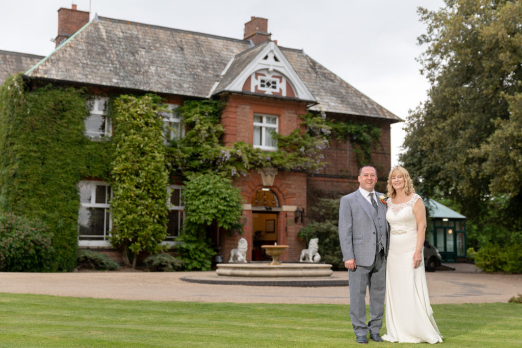 bride groom formal portrait ardencote luxury venue warwickshire oxfordshire wedding photographer