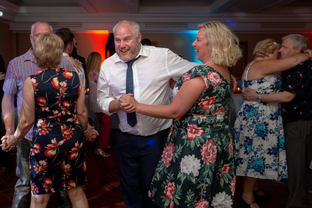 flowery dressed dancers celebration party ardencote hotel warwickshire oxford wedding photographers