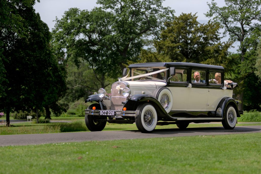 father of the bride daugher bridal classic car the elvetham hartley wintney hampshire oxfordshire wedding photographer