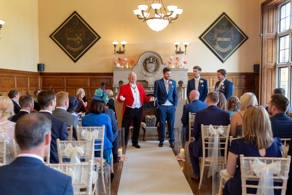 toastmaster groom groomsmen marriage ceremony the elvetham hartley wintney hampshire oxfordshire wedding photographer