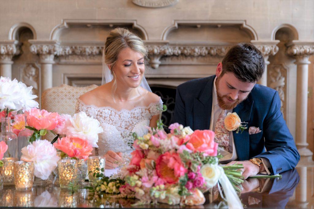 bride groom sign register the elvetham hartley wintney hampshire oxford wedding photographer