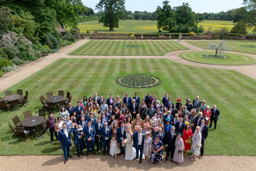 wedding guest group portrait the elvetham hartley wintney hampshire oxford wedding photographer