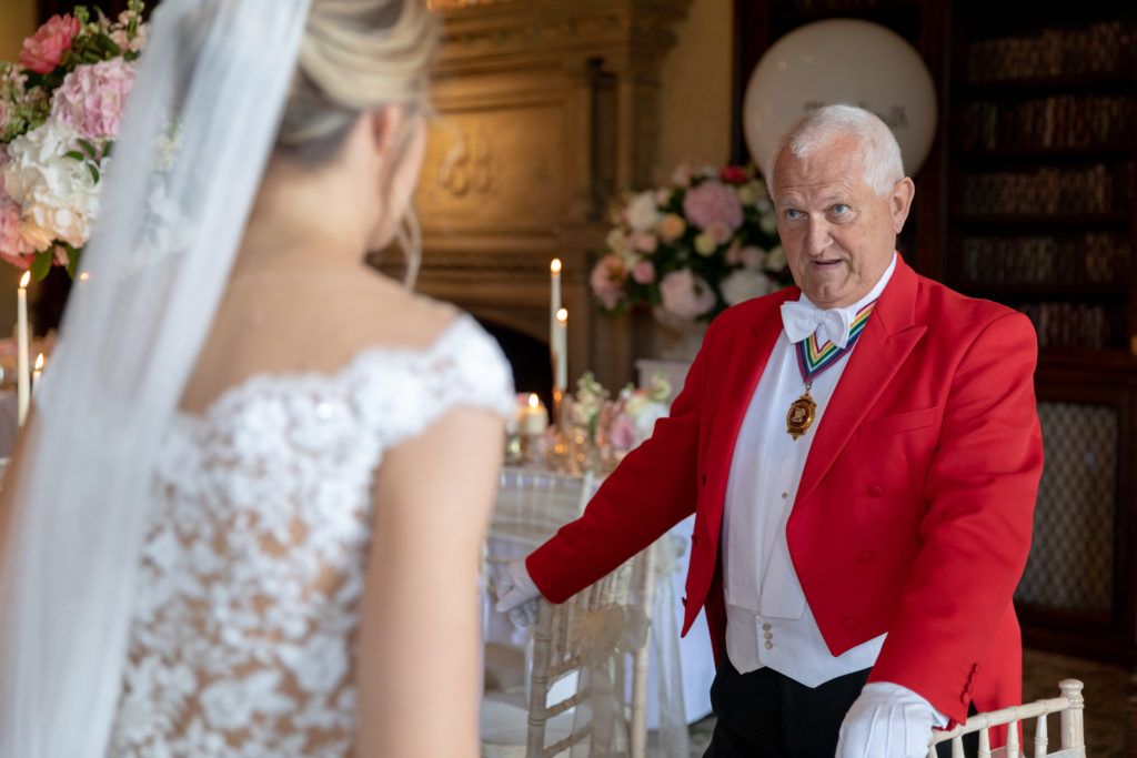 bride toastmaster the elvetham dinner reception hartley wintney hampshire oxford wedding photography
