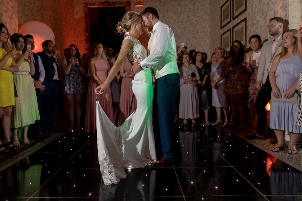 bride groom first dance the elvetham luxury venue hartley wintney hampshire oxford wedding photographers