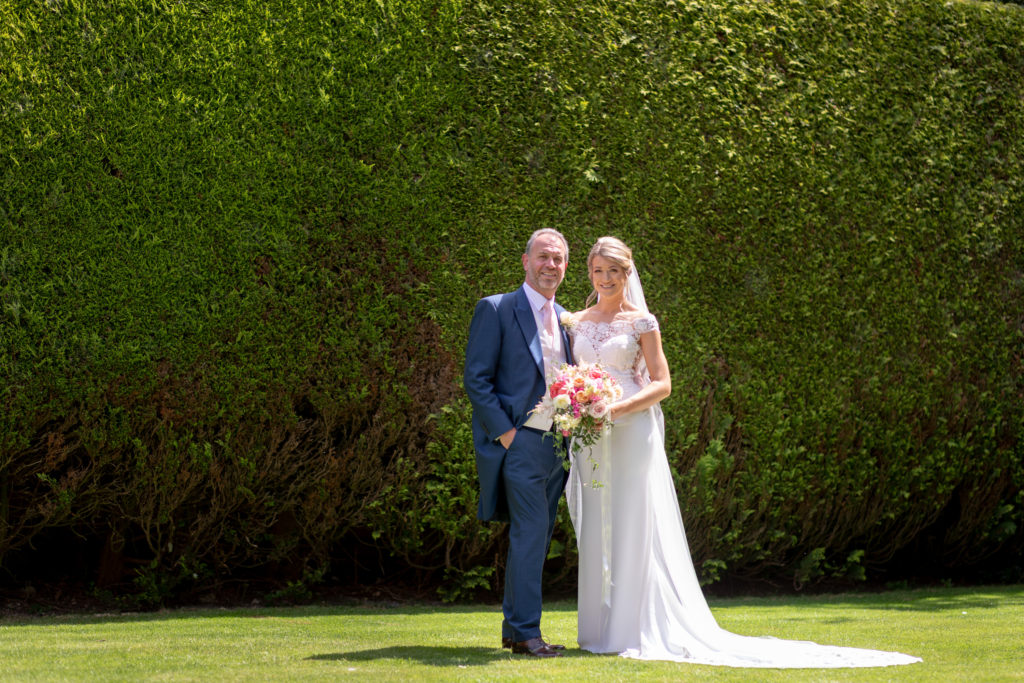26 bride father of bride formal portrait the elvetham hartley wintney hampshire oxford wedding photographers