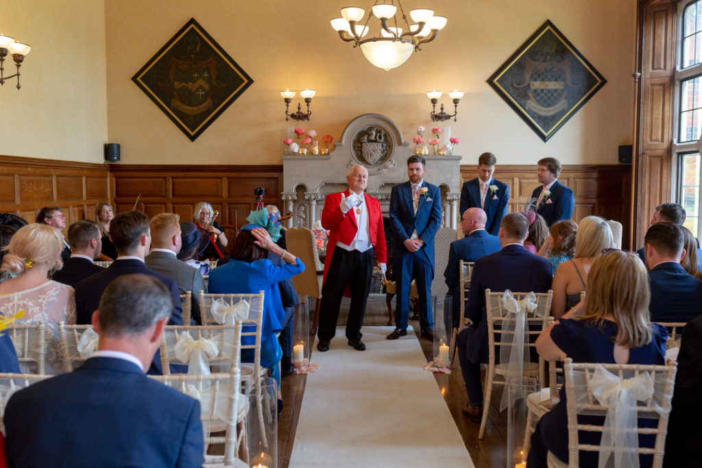 34 toast master groom groomsmen ceremony guests the elvetham hartley wintney hampshire oxfordshire wedding photographer