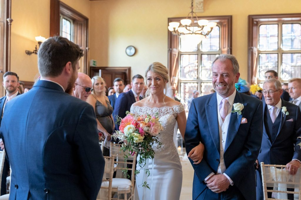 40 bride father of bride greet groom marriage cesremony the elvetham hartley wintney hampshire oxfordshire wedding photographer