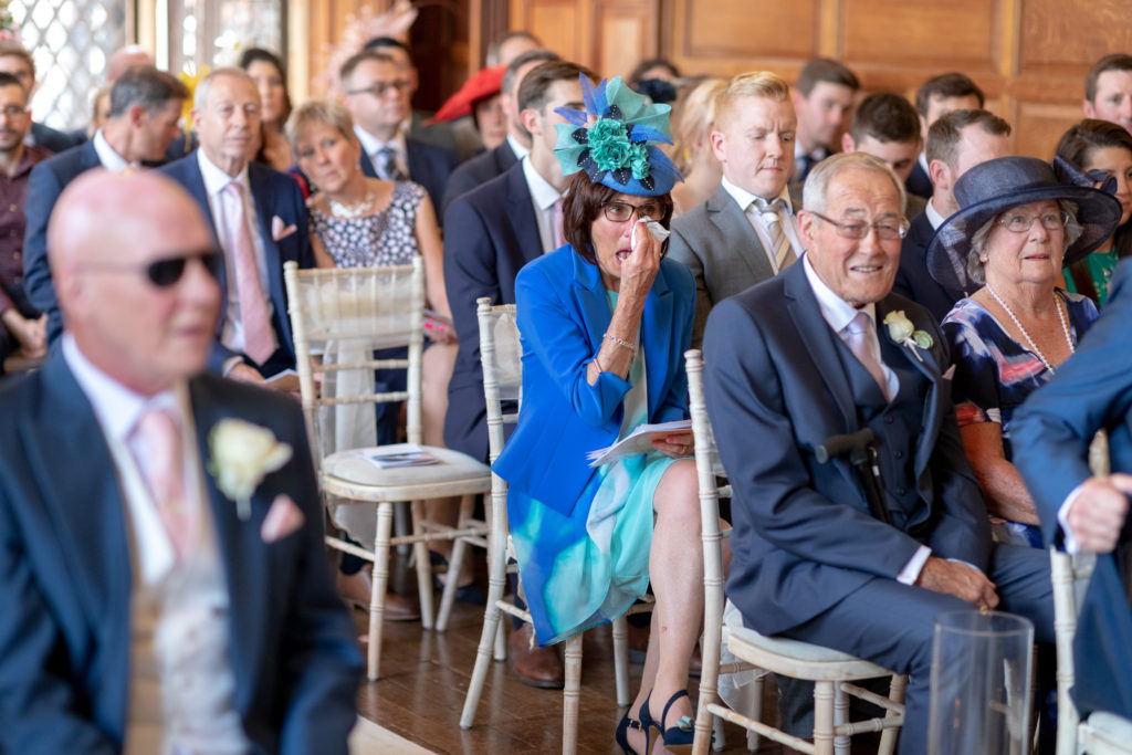 43 tearful marriage ceremony guest the elvetham hartley wintney hampshire oxford wedding photographer