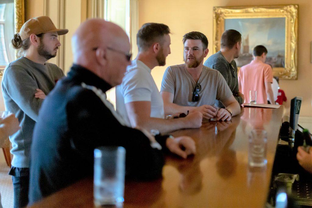 06 groom groomsmen pre-ceremony drink the elvetham hartley wintney hampshire oxfordshire wedding photography