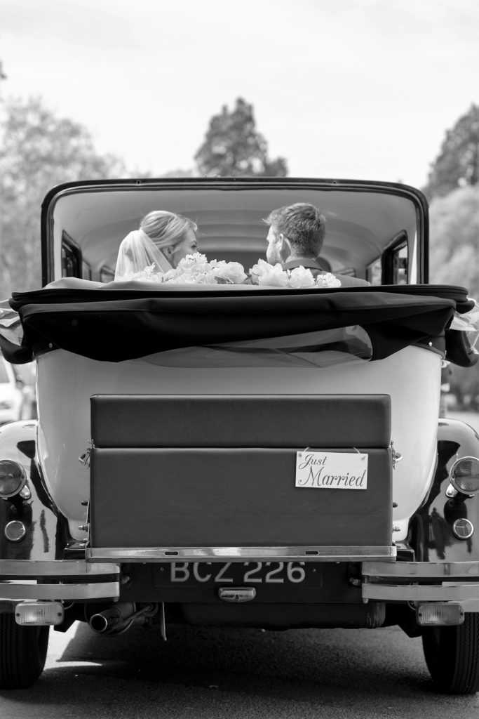 67 bridal car just marride sign the elvetham venue hartley wintney hampshire oxford wedding photographer