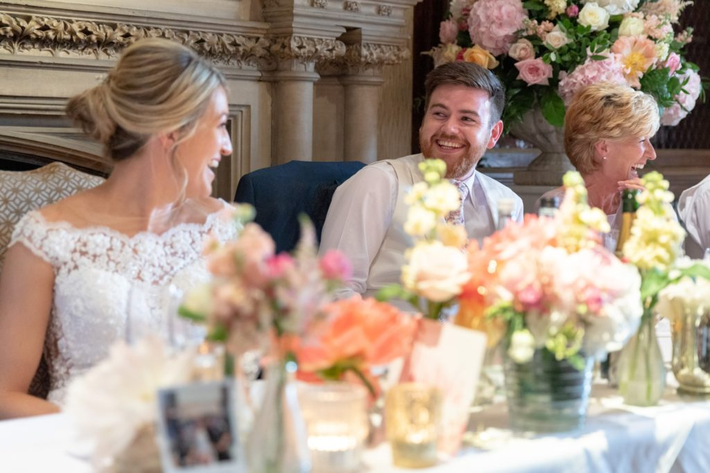 89 laughing bride groom mother of bride dinner reception the elvetham hartley wintney hampshire oxfordshire wedding photographers