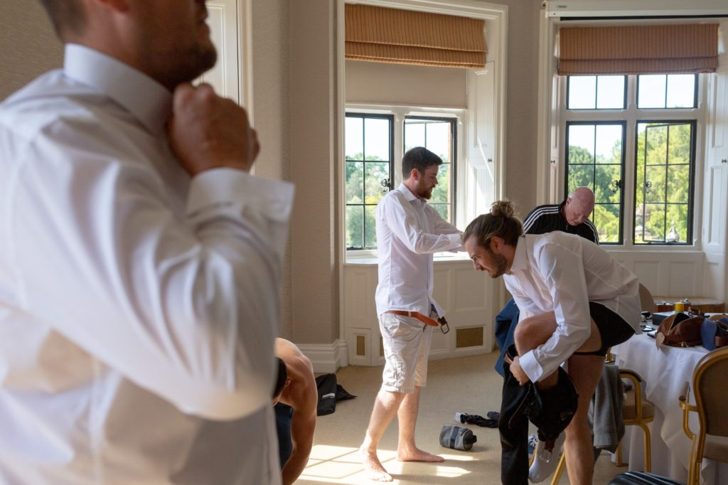 15 groom preparation groomsmen dress the elvetham hartley wintney hampshire oxford wedding photography