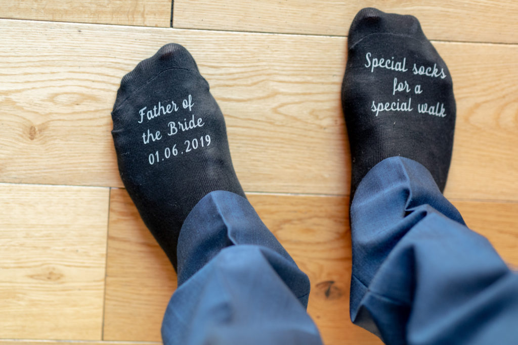 19 father of bride socks groom prep the elvetham hartley wintney hampshire oxford wedding photographer