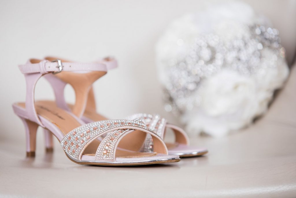 brides shoes tiara marylebone hotel london oxford wedding photography