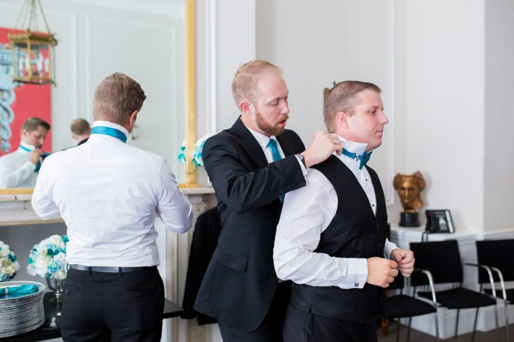 grooms preparation academy of medical sciences portland place london oxford wedding photographer