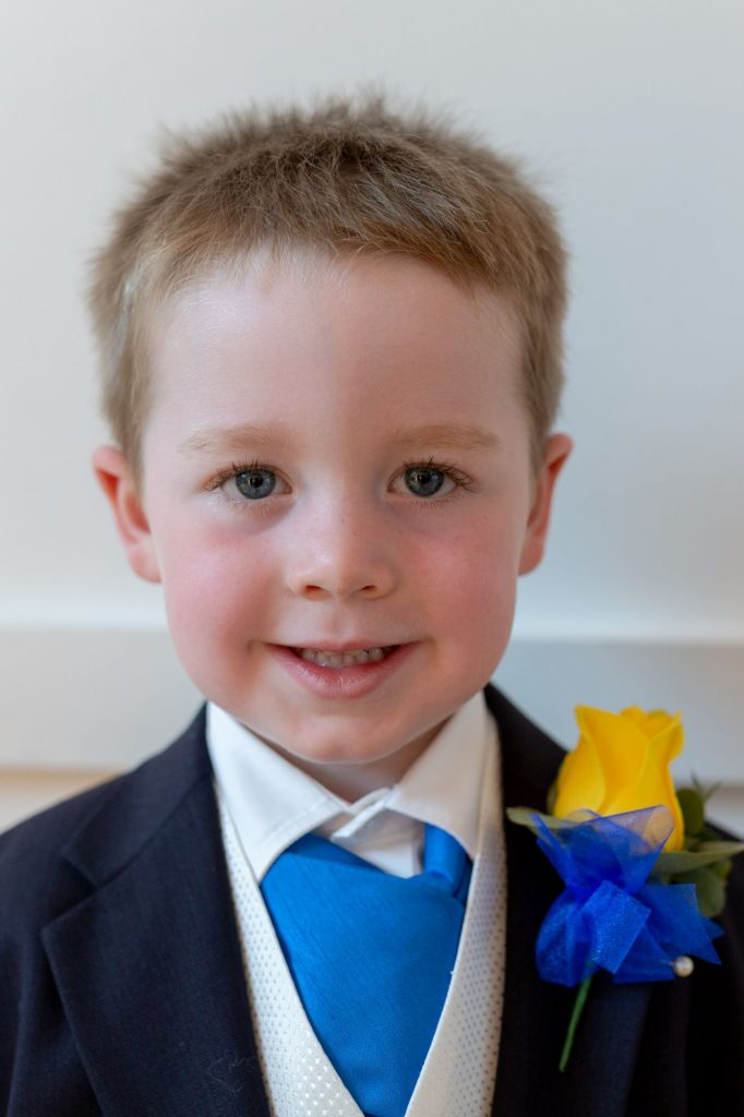 page boy wearing formal suit manor hill house bromsgrove worcestershire oxford wedding photography