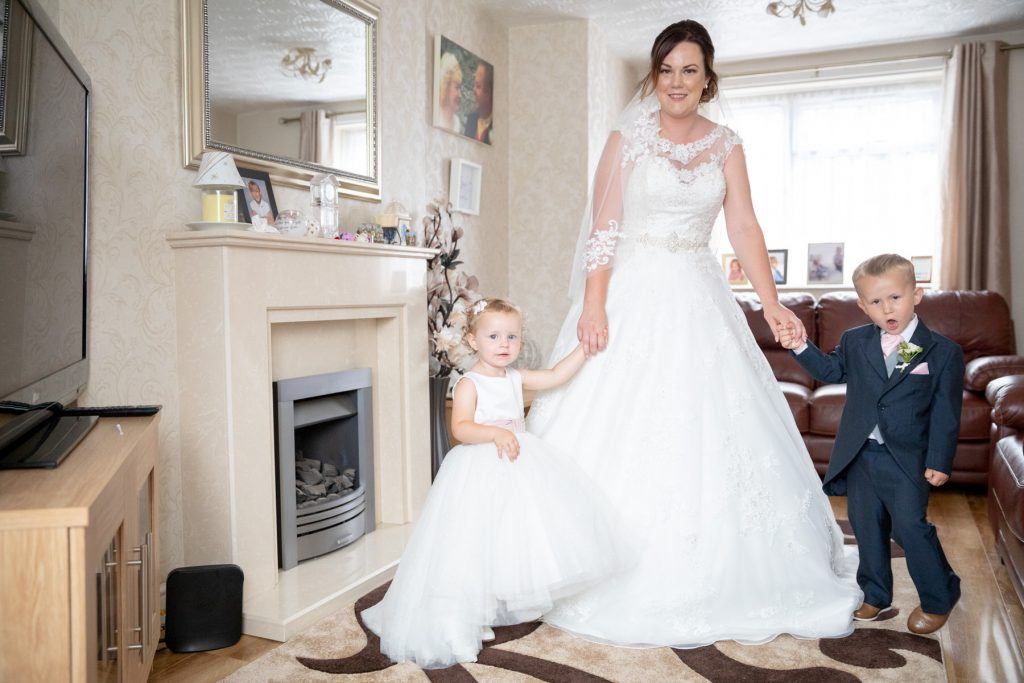 bride flowergirl pageboy st marks church ceremony pensnett dudley west midlands oxford wedding photographers