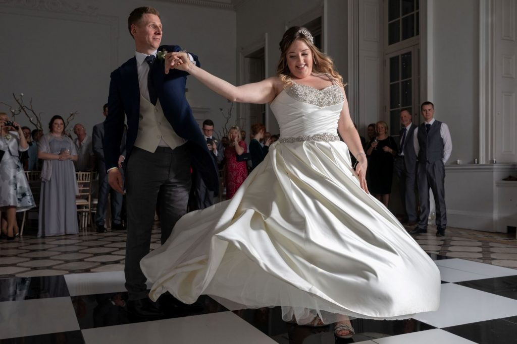 bride groom first dance compton verney venue warwickshire oxford wedding photographer