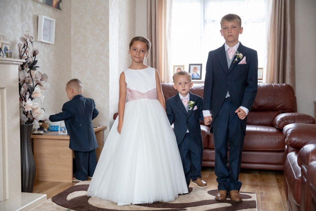 bridal prep flowergire pageboys st marks church ceremony pensnett dudley west midlands oxfordshire wedding photographer