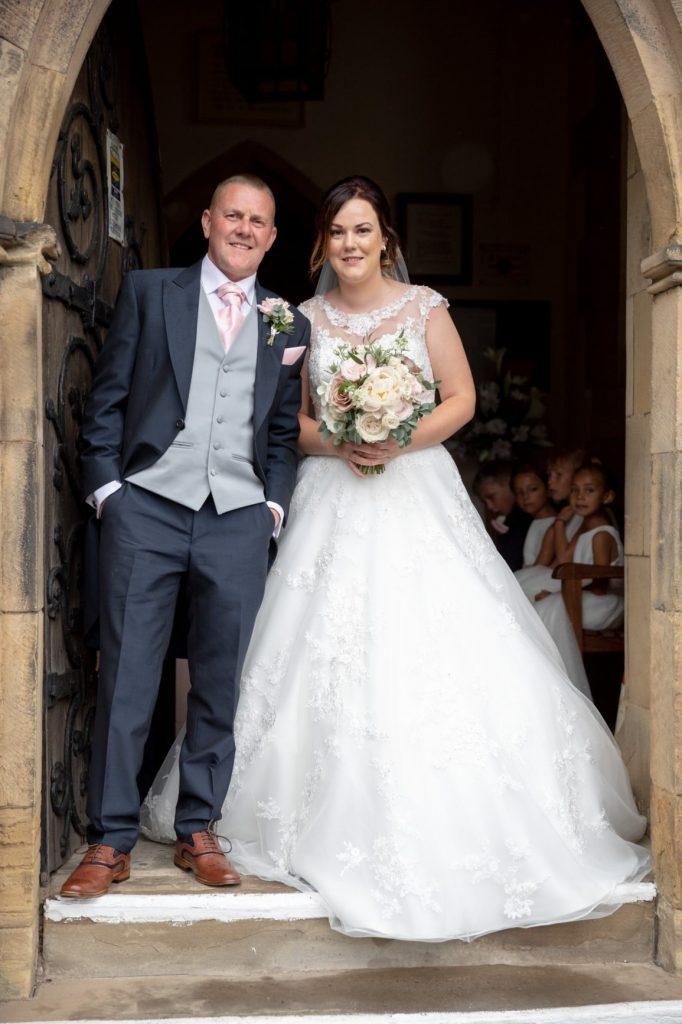 bride enters church ceremony st marks pensnett dudley west midlands oxford wedding photographer
