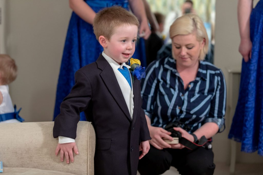 pageboy prepares for marriage ceremony manor hill house bromsgrove worcestershire oxfordshire wedding photography