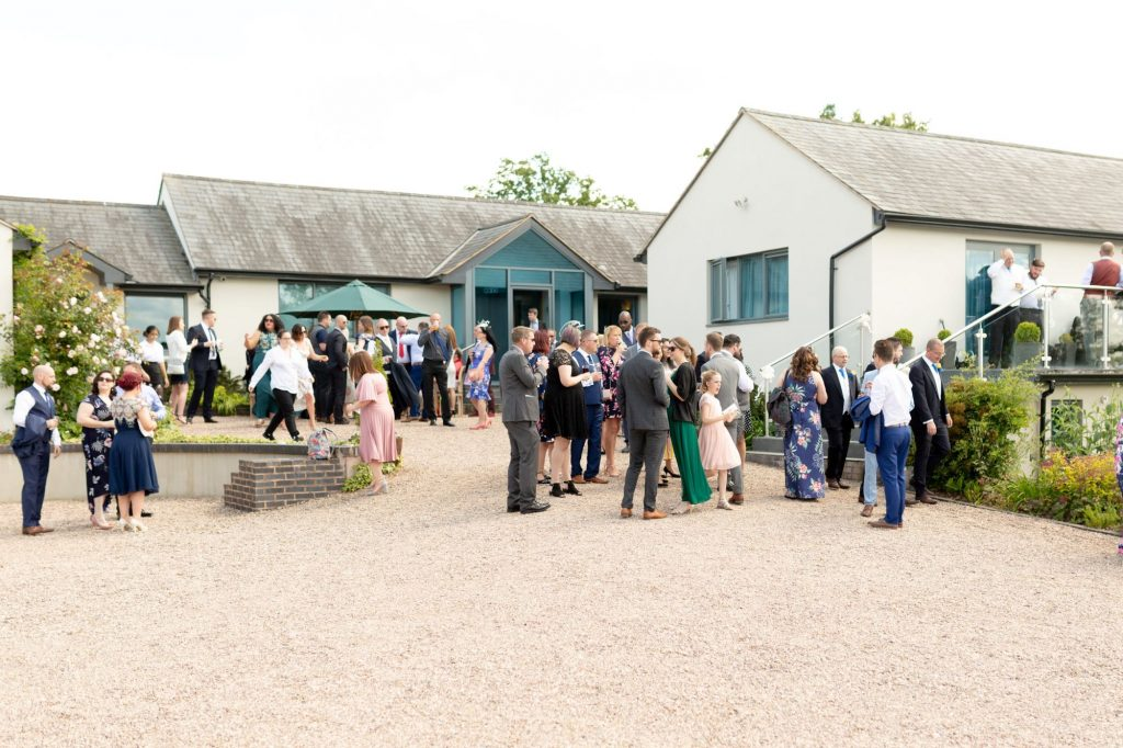 invited guest enjoy reception drinks manor hill house bromsgrove worcestershire oxford wedding photography
