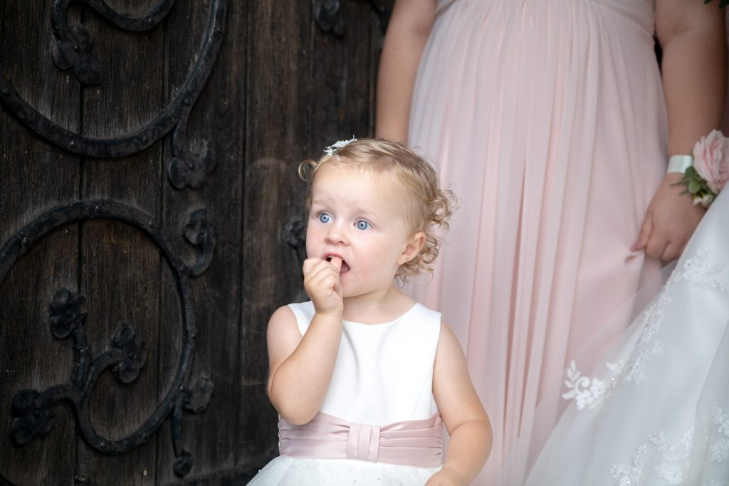 young flowergirl church door st marks pensnett dudley west midlands oxfordshire wedding photography