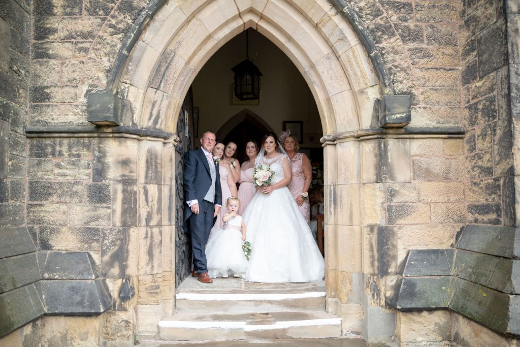 bridal party church door st marks marriage ceremony pensnett dudley west midlands oxford wedding photographer