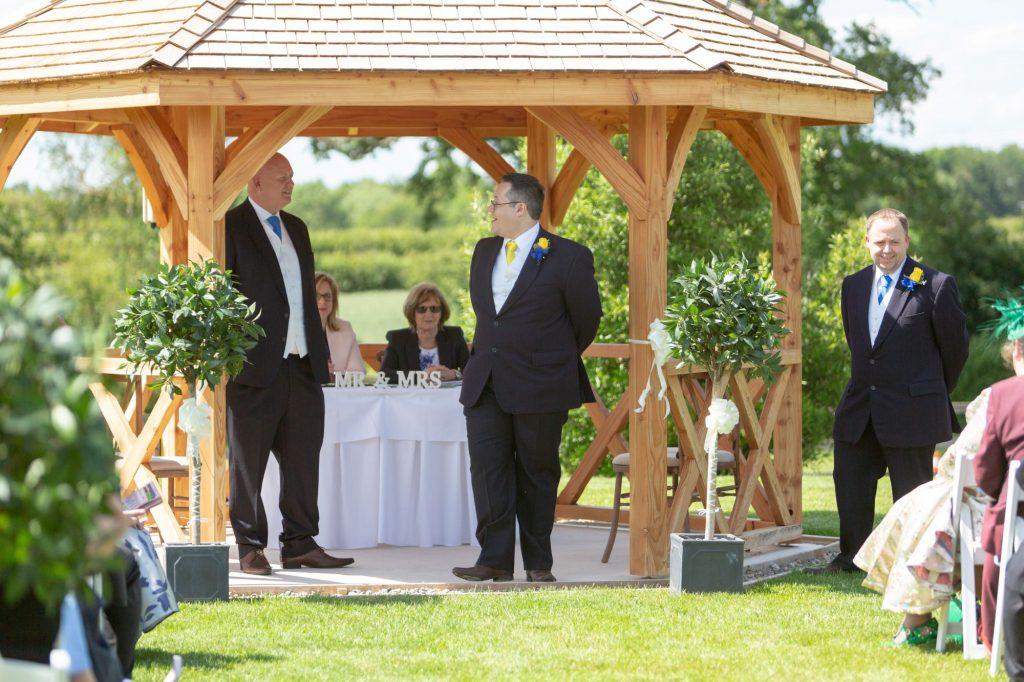 groom groomsmen await bride manor hill house bromsgrove worcestershire oxfordshire wedding photographers