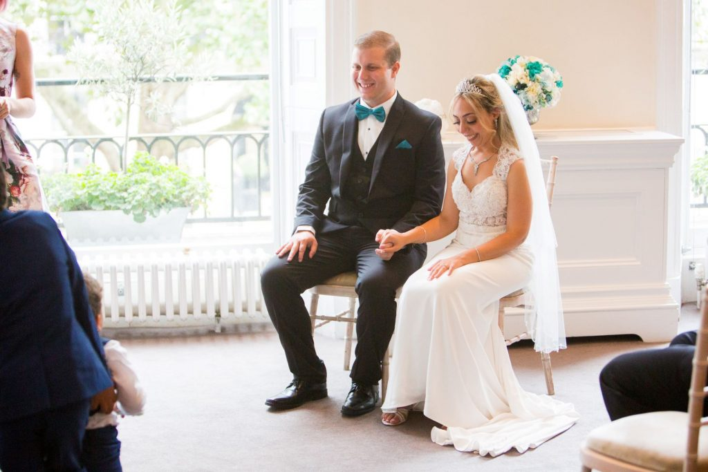 celebrant marries bride groom academy of medical sciences portland place london oxford wedding photography