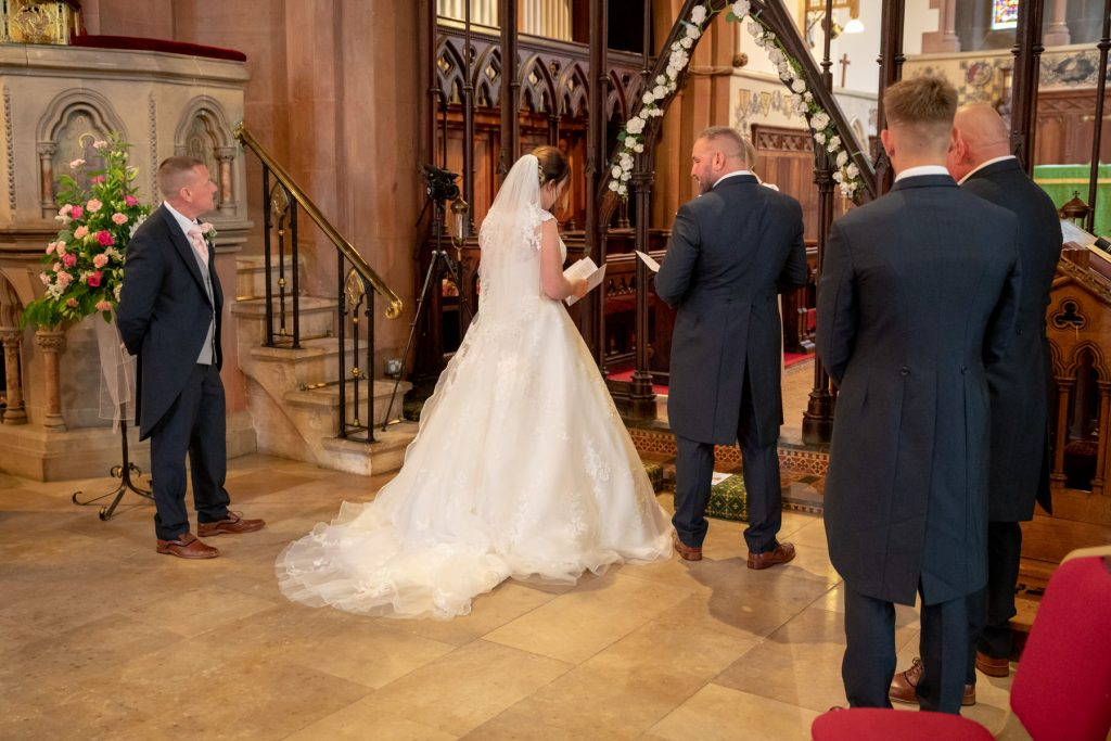 bride groom groomsmen st marks church alter pensnett dudley west midlands oxfordshire wedding photographers
