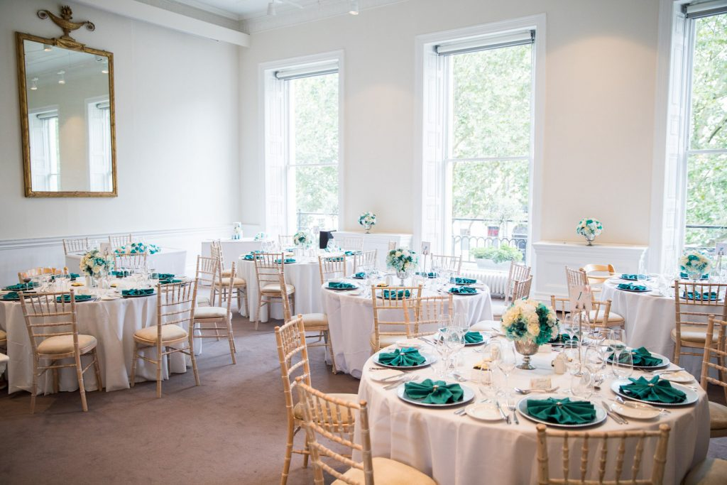 wedding breakfast tables academy of medical sciences portland place london oxford wedding photographer