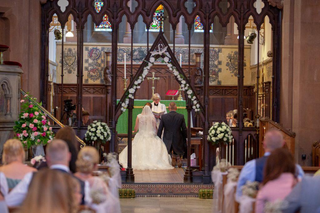 alter ceremony bride groom kneel st marks church pensnett dudley west midlands oxford wedding photographer